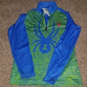 NWOT green and blue Spyder long sleeve shirt